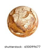 perfect circular loaf on white... | Shutterstock . vector #650099677