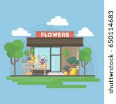 isolated flowers building. | Shutterstock . vector #650114683