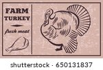 label of meat products. turkey. ...   Shutterstock .eps vector #650131837