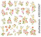 small flower object | Shutterstock .eps vector #650133367