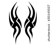 tribal tattoo art designs.... | Shutterstock .eps vector #650145037