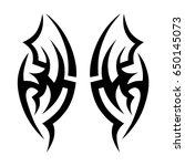 tribal tattoo art designs.... | Shutterstock .eps vector #650145073