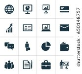 trade icons set. collection of... | Shutterstock .eps vector #650148757