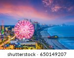 myrtle beach  south carolina ... | Shutterstock . vector #650149207