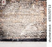 simple urban wall with a... | Shutterstock . vector #650150713