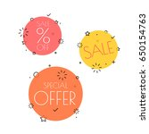 different shopping tags vector... | Shutterstock .eps vector #650154763