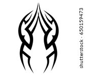 tattoo tribal vector design.... | Shutterstock .eps vector #650159473
