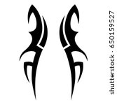 tribal tattoo art designs.... | Shutterstock .eps vector #650159527