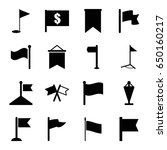pennant icons set. set of 16... | Shutterstock .eps vector #650160217