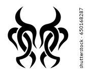 tattoo tribal vector design.... | Shutterstock .eps vector #650168287