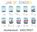 illustration of jars of candies ... | Shutterstock .eps vector #650170927