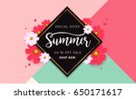 summer sale background layout... | Shutterstock .eps vector #650171617