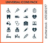 drug icons set. collection of... | Shutterstock .eps vector #650180197