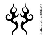 tribal tattoo art designs.... | Shutterstock .eps vector #650189653