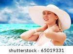 young beautiful women on the... | Shutterstock . vector #65019331