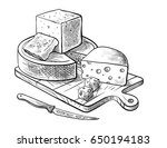 cheese making various types of... | Shutterstock .eps vector #650194183