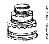 birthday cake icon | Shutterstock .eps vector #650198893