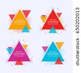 modern abstract triangle label... | Shutterstock .eps vector #650202013