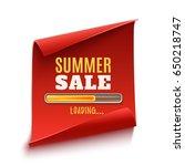big summer sale loading poster. ... | Shutterstock .eps vector #650218747