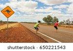 man and woman imitating... | Shutterstock . vector #650221543