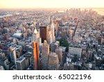 new york city manhattan sunset... | Shutterstock . vector #65022196