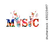 music inscription with... | Shutterstock .eps vector #650225497