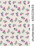 cute ditsy little floral print... | Shutterstock .eps vector #650225653