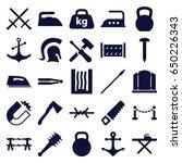 iron icons set. set of 25 iron... | Shutterstock .eps vector #650226343