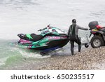 veulette sur mer  normandy ... | Shutterstock . vector #650235517