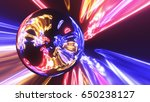 abstract ring background with... | Shutterstock . vector #650238127