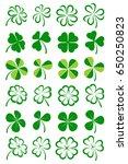 leaf clover collection set.... | Shutterstock .eps vector #650250823