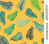 tropical leaves seamless... | Shutterstock .eps vector #650255557
