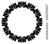 black and white silhouette... | Shutterstock .eps vector #650259667