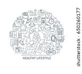 healthy lifestyle concept.... | Shutterstock .eps vector #650260177