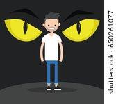 horror conceptual illustration. ...   Shutterstock .eps vector #650261077