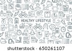 healthy lifestyle banner.... | Shutterstock .eps vector #650261107