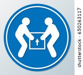 human help together lifting box ... | Shutterstock .eps vector #650263117