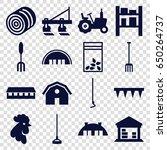 farming icons set. set of 16... | Shutterstock .eps vector #650264737