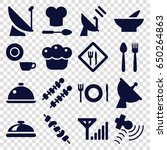 dish icons set. set of 16 dish... | Shutterstock .eps vector #650264863