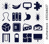 painting icons set. set of 16... | Shutterstock .eps vector #650268637