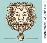 vintage hand drawn lion print... | Shutterstock .eps vector #650284513