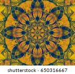 seamless lime kaleidoscope...   Shutterstock . vector #650316667