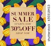 summer sale background ... | Shutterstock .eps vector #650318413