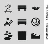 relaxation icons set. set of 9... | Shutterstock .eps vector #650319463