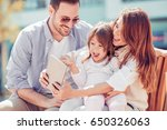 portrait of happy family having ... | Shutterstock . vector #650326063