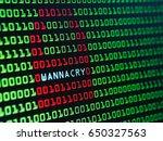 binary with lock screen ... | Shutterstock . vector #650327563