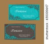 beautiful wedding invitations... | Shutterstock .eps vector #650330647