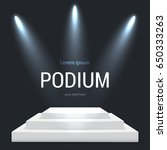 illuminated round stage podium  ... | Shutterstock .eps vector #650333263