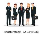 group of business men and women ... | Shutterstock .eps vector #650341033