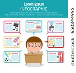 education infographic template... | Shutterstock .eps vector #650344993